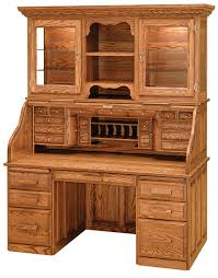 Secretary Desk With Hutch by Librarians Roll Top Desk With Hutch Countryside Amish Furniture