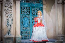 sword art online yuuki asuna wedding cosplay photo worldcosplay