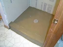 installing mortar shower pan