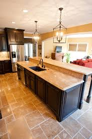granite countertops kitchen island with bar lighting flooring