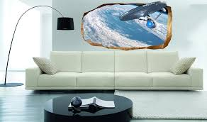 startonight 3d mural wall art photo decor star trek explorer startonight 3d mural wall art photo decor star trek explorer amazing dual view surprise large wall mural wallpaper for living room or bedroom space wall art
