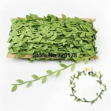 leaf ribbon 80 meters green leaf trim crown leaf trim leaves satin ribbon for