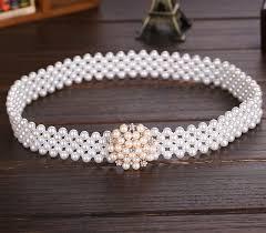 aliexpress com buy beautiful pearl flower belts for women