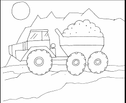dump truck coloring page for pages eson me