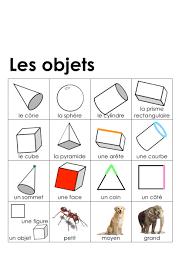 3 Dimensional Shapes Worksheets Madame Belle Feuille Les Objets 3d