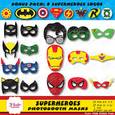 Superhero Photo Booth Superheroes Photo Booth Masks Party Props Photo Booth Props
