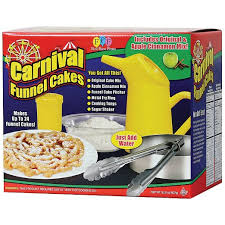 funnel cake starter kit with cake mix pitcher and cake ring