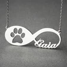 infinity necklace images Personalized paw infinity necklace dog jewelry dog necklace cat jpg