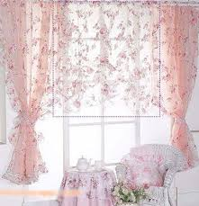 Victorian Kitchen Curtains by Pretty Sheer Pink Curtains With Roses In A Victorian Shabby Chic