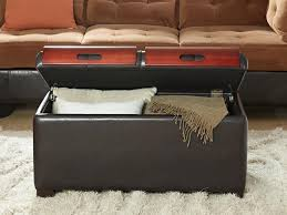Ottomans With Trays Convenience Concepts Designs4comfort Storage Ottoman