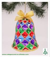 Glass Bell Christmas Ornaments - 2015 blingbling blown glass bell christmas ornament wholesales