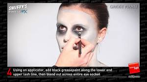 ghost pirate face painting make up tutorial youtube