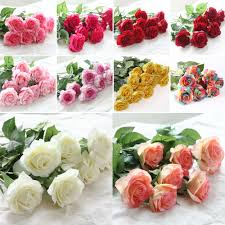 aliexpress com buy zonaflor 10pcs lot artificial flowers rose rose 2017 new valentine s day home decor real touch silk flowers wedding bouquet from reliable real touch silk flowers suppliers on rock decoration shop