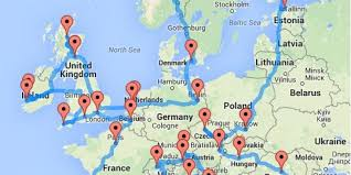 Map My Walk Route Planner by This Guy Planned The Best European Road Trip So You Don U0027t Have To
