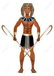 vector illustration of a man dressed in egyptian carnival