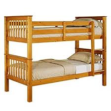 New Devon Ft Single Solid Wooden Pine Bunk Bed Adults Childrens - Solid pine bunk bed