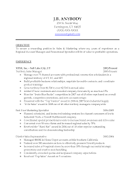 Example Sales Resumes by Objective For Sales Position Objectives In Management It Resume