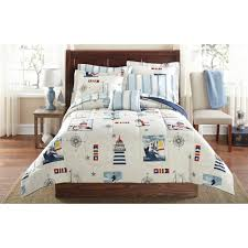 mainstays lighthouse bed in a bag coordinated bedding set