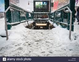 new york usa 23rd jan 2016 entrance to subway in times square