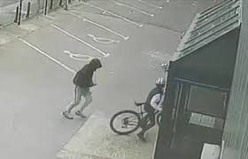 black friday target bikes cctv footage shows manchester schoolboy fight to keep his bike