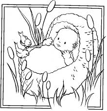 the amazing baby moses coloring page to encourage to color an