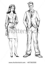 man woman sketch hand drawn illustration stock vector 467362508