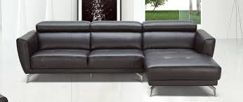 astounding black leather sectional 2215 furniture best