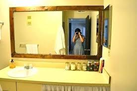 Framed Mirrors For Bathroom Cherry Wood Framed Mirrors Wooden Framed Mirrors For Bathroom Wood