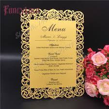 diy wedding menu cards 12x17cm laser cut table place card wedding party menu card