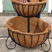 large wrought iron planters wrought iron wall baskets garden urns