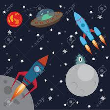 rocket in space aliens attack royalty free cliparts vectors and