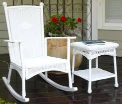 Outdoor Wicker Swivel Chair Wicker Rocking Chairs Outdoor Classic Coastal White Wicker Outdoor