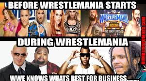 Wrestlemania Meme - wrestlemania 33 meme that shows what we think about the kick off