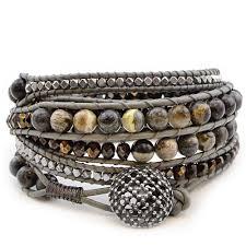 bead wrap bracelet leather images Tricks to laddering free multi wrap bracelet project tutorial jpg