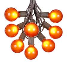 globe string lights brown wire 100 orange g50 globe string light set on brown wire novelty lights