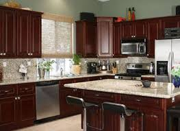 Paint Colors For Kitchens With Dark Cherry Cabinets Painting Best - Cherry cabinets kitchen