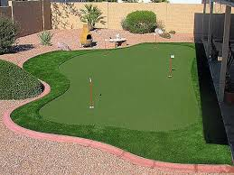 Arizona Backyard Landscaping by Arizona Backyard Synthetic Grass Putting Green Landscape Design