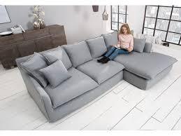 canapé profondeur 80 cm canapé d angle en tissu gris hervor 255 cm