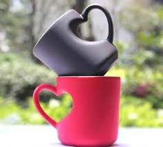 heart shaped mugs shaped handle coffee mug
