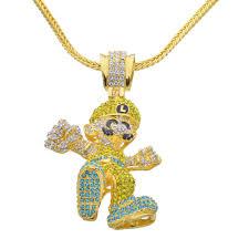 necklace pendant size images Wholesale lage size cartoon game pendant hip hop necklace jewelry jpg