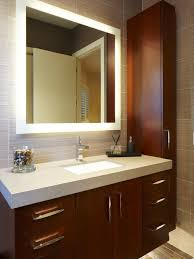 Houzz Bathroom Mirror Backlit Bathroom Cabinet Led Mirrors Houzz House Interiors