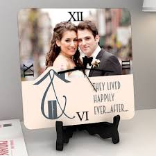 wedding clocks gifts happily after personalized wedding clock gift send home and