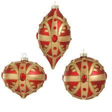 raz garnet and gold glass ornaments
