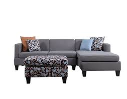 gray sectional with ottoman 3 piece modern grey sectional sofa with ottoman and floral print