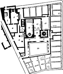 baths of pompeii clipart etc