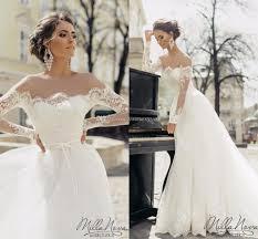 chapel wedding dresses discount 2017 sleeves wedding dresses sheer neck