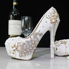 wedding shoes online uk 2017 glitter cheap wedding shoes pearls crystals pumps shoes