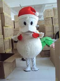 Donald Duck Halloween Costume Toddler White Donald Duck Santa Claus Mascot Costume Christmas Duck
