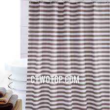 Chocolate Brown Shower Curtain White And Brown Chocolate Striped Casual Beautiful Shower Curtains