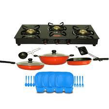 Prestige Cooktop 4 Burner Prestige Marvel Gtm 03 3 Burner Gas Stove Black Combo